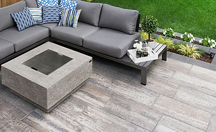 Image of a stone patio featuring Avari (Glacier Creek) product