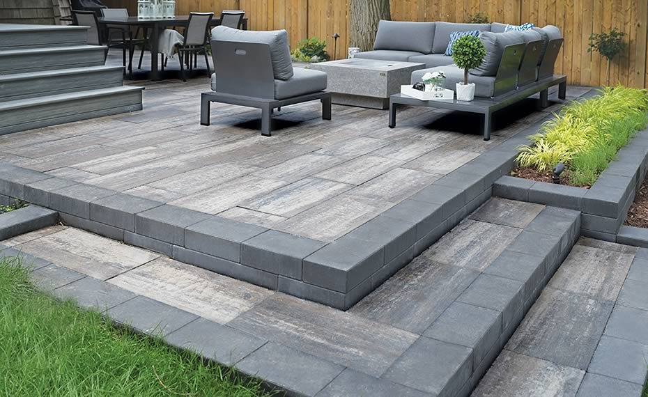Image of a stone patio