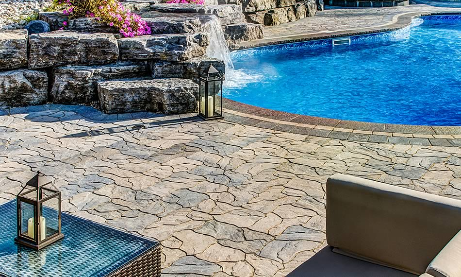 Poolside image featuring Ardesia product