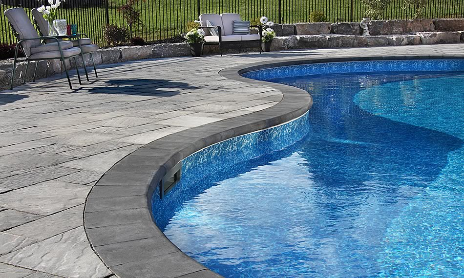 Poolside image featuring Barollo Round Edge Coping product