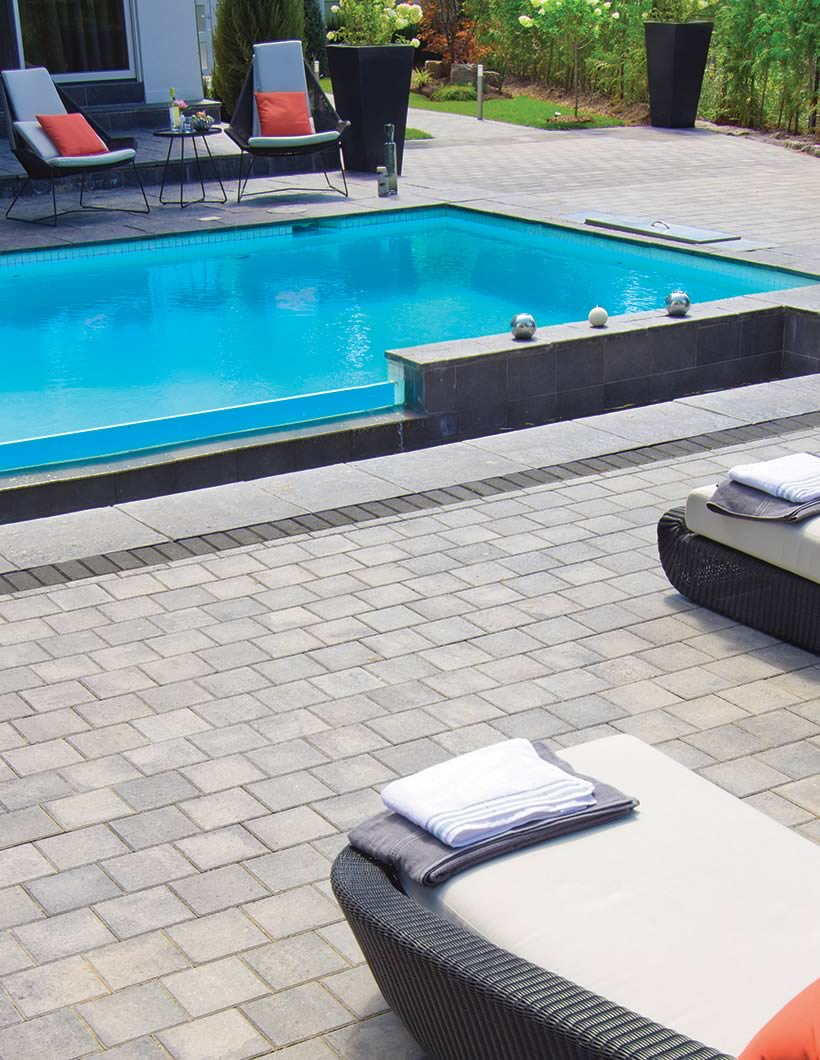 Image of poolside featuring Standard (Grey Mix) product