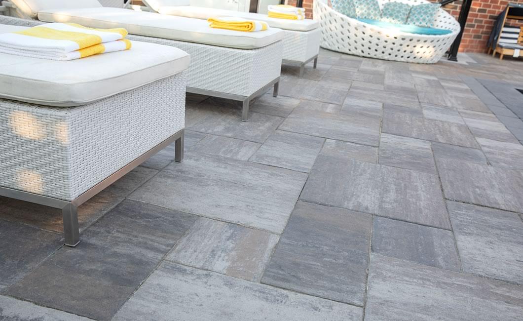 Image of a patio featuring Tresca Slab (Glacier Creek) product