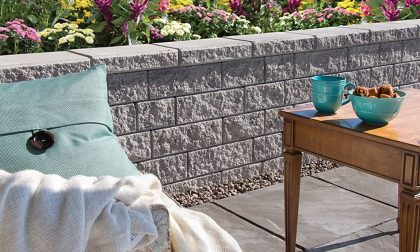 Image of a patio and garden featuring Garden Lock product