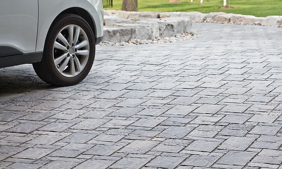 Image of a driveway featuring Moderna product