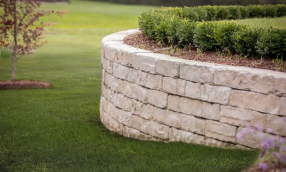 Image of a stone retaining wall