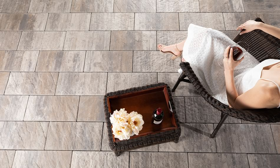 Image of a patio featuring Tresca product