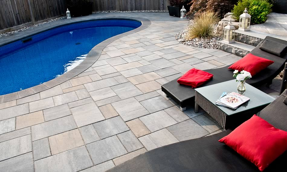 Image of poolside featuring Trevista Smooth (Glacier Creek) product