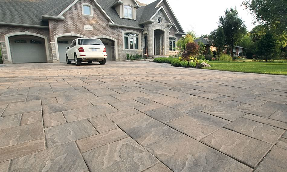 Image of a driveway featuring Trevista 80 Textured product
